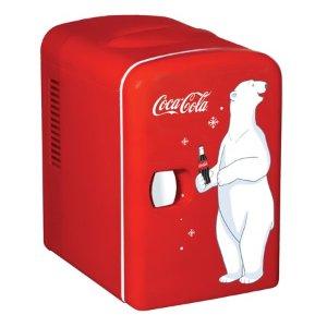 Coca-Cola 6 Can AC/DC Personal Mini Cooler/Mini Fridge (4.2 Quarts/4 Liters) - Walmart.com