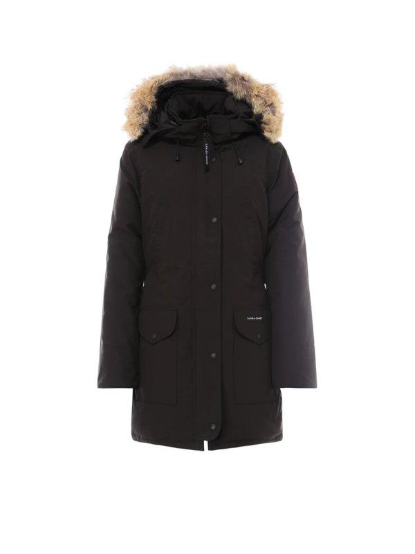 Trillium毛毛连帽大衣