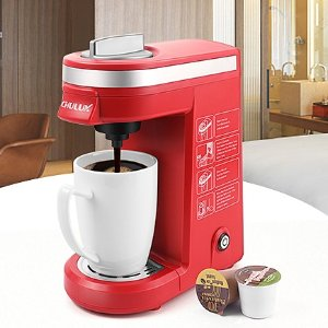 $33.99CHULUX Single Cup Coffee Maker Travel Coffee Brewer,Red