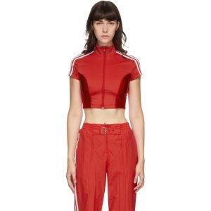 adidas Originals红色短款上衣