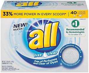 $4.45All 敏感肌友好洗衣粉 52盎司 40次量