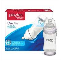 Playtex 婴幼儿防胀气奶瓶,无BPA, 9 盎司,3个装