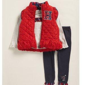 低至2.2折+免邮Tommy Hilfiger 儿童服饰海量上新款 收保暖棉服外套