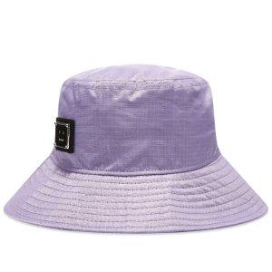 Acne StudiosBuko Nylon Plaque Face Bucket HatLilac Purple