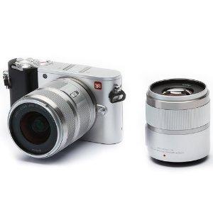 YiM1 4K Video 20 MP Mirrorless Digital Camera w/ 12-40mm & 42.5mm Lenses, Silver
