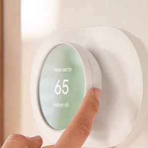 7.6折 $136.01(原价$178.99)近期好价:Google Nest Thermostat 高颜值 家用智能温控器