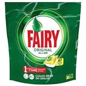 5折 柠檬味 去腥好帮手Fairy 全效合一洗碗机清洁剂 67粒