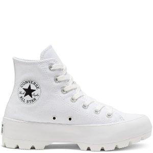 厚底帆布 穿搭有型Converse 新款Lugged高帮帆布鞋