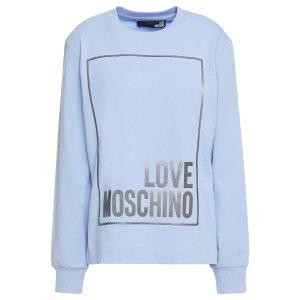 Love Moschino天蓝色方框Logo 卫衣