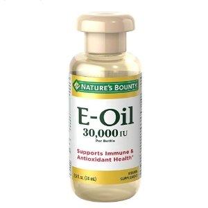$5.63 包邮Nature's Bounty 维生素E油 30,000IU 2.5oz