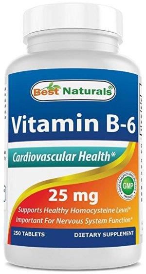 Best Naturals 维他命 B-6 25 mg, 250 Count