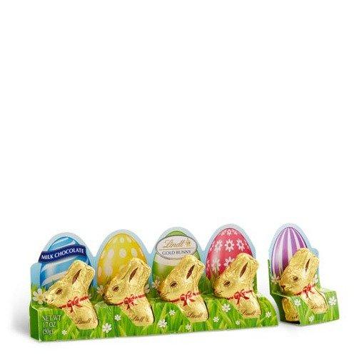 复活节迷你兔兔形状巧克力,5个装