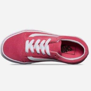 VANS Old Skool Suede Desert Rose & True White Girls Shoes