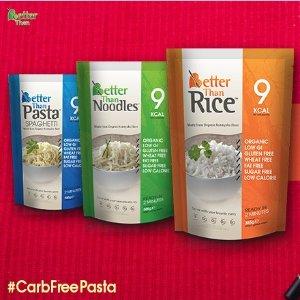 仅$4.99 无糖无脂高纤维Better Than 有机0碳水魔芋 代替米面 节省你的卡路里