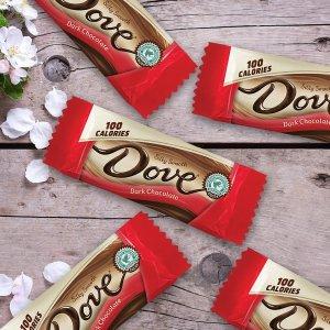 $10.01 一条只需$0.55DOVE 100卡路里 牛奶丝滑巧克力 0.65oz 18条