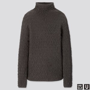 WOMEN U MERINO-BLEND SHIRRING SWEATER | UNIQLO US