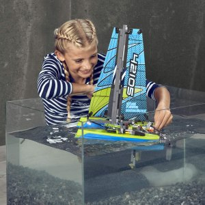 $59.98(原价$69.99)史低价:LEGO乐高 机械组系列 漂浮双体船42105  共404块
