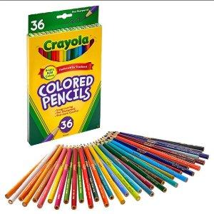 现价£4.72(原价£6.89)Crayola 彩色铅笔36支装