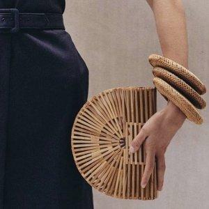 $128起 现货也有Cult Gaia 竹篮编织手袋热卖 时髦女生必备