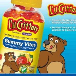 $10.42 (原价$11.97)L'il Critters 小熊儿童果味维生素软糖190颗