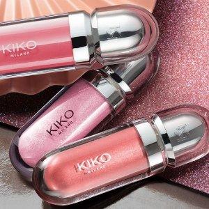 线上7折+买四免二+额外8.3折折扣升级:Kiko精选彩妆热促 £1.74起收口红 叠加折扣享不停