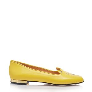 Charlotte OlympiaWomen's Designer Flat Shoes |- NOCTURNAL KITTY