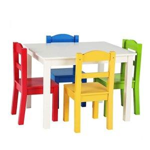 $69.97起史低价:Tot Tutors 儿童桌+4把椅子套装,各色系都有