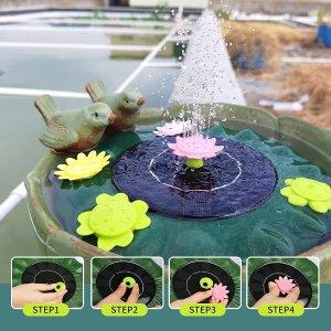 $19.99(原价$39.98)史低价:LionRoar 太阳能荷叶喷泉 适用于池塘、泳池、浴缸等