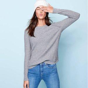 一律5折 $24.75收封面毛衣LOFT 精选女士毛衣特价热卖