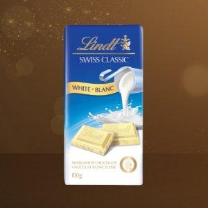现价$1.97(原价$3.69)Lindt 瑞士莲 经典白巧克力 香浓丝滑 100g