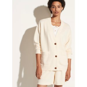 VinceOversized French Terry Cardigan