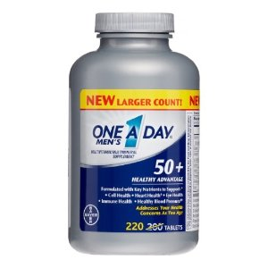 Bayer One A Day Men's 50 Plus Healthy Advantage Multivitamin Tablets, 220 Ct by One-A-Day