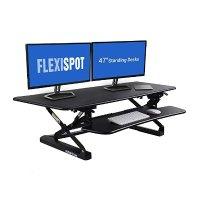 FLEXISPOT 站立式办公桌 - 47英寸宽平台立式台式计算机提升板,带快速释放键盘托盘