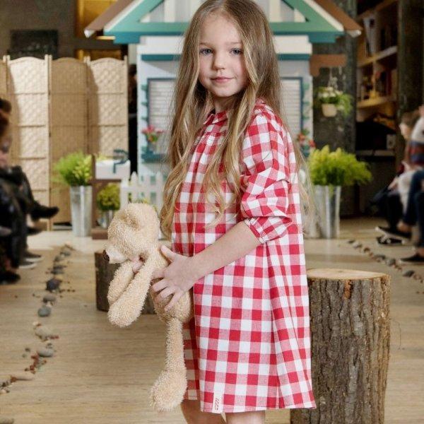 儿童格纹连衣裙