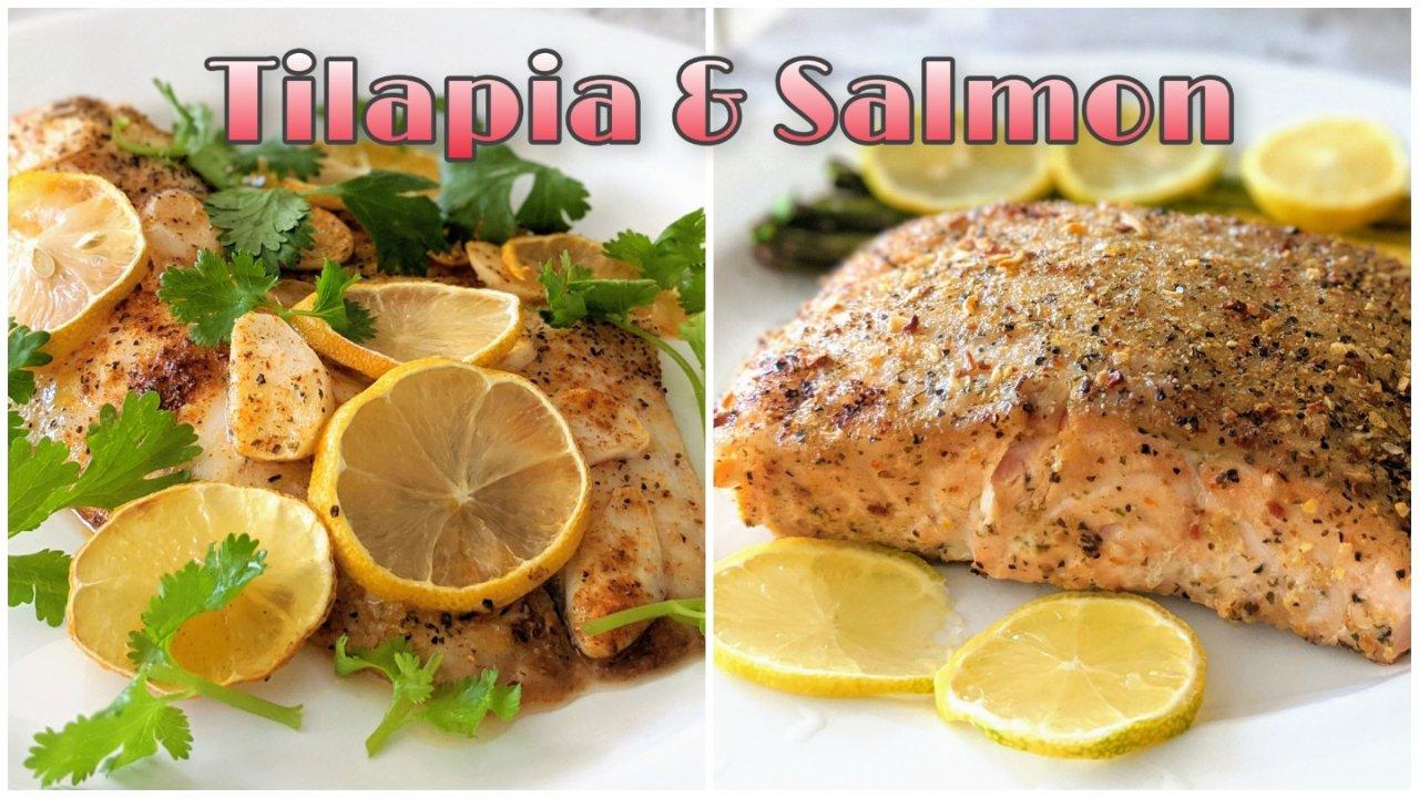 食谱分享+热量分析|烤罗非鱼&烤三文鱼排的简单快手,不用顾火的烤箱食谱