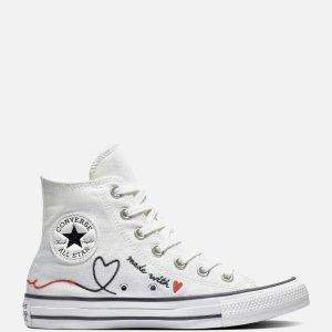 Converse码全白底高帮情人节限定鞋