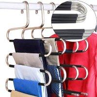 DOIOWN 悬挂式裤子收纳 升级版防滑落设计 5个