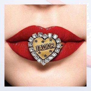 无门槛8折 £22收封面限定色唇釉Dior 罕见全线美妆护肤热促 限量5色眼影,唇釉都有
