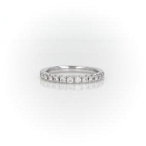 Blue Nile14k白金法式钻石戒指