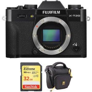 $699 轻旗舰带回家史低价:FUJIFILM X-T20 APS-C 无反相机 + 32GB SDXC + 包