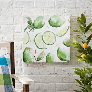 Lime Print Outdoor Canvas Art