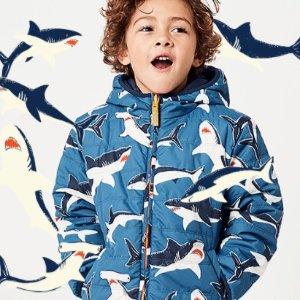新增无门槛包邮码即将截止:Mini Boden 儿童外套低至5折特卖,难得好折扣