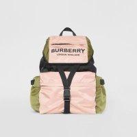 Burberry 拼色双肩包