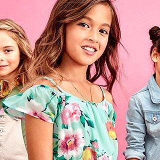 T恤$1.9 连衣裙$3.4 包邮延长一天:Children's Place童装官网 清仓区额外2-2.5折热卖