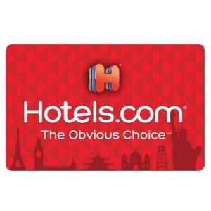 $84.99 叠加折扣码最低相当于75折Hotels.com $100电子礼卡超值促销 不限购
