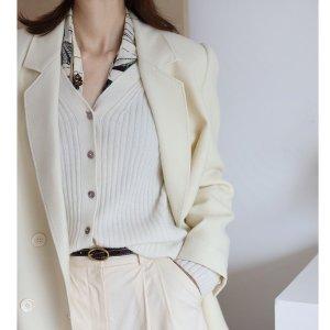 New LookS-L码 62%锦纶白色针织开衫