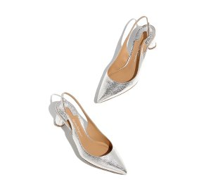Flower Heel Sling back Pump Shoe - Pumps - Shoes - Women - Salvatore Ferragamo US