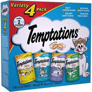 $4.79Temptations 混合口味猫咪零食3oz 4袋