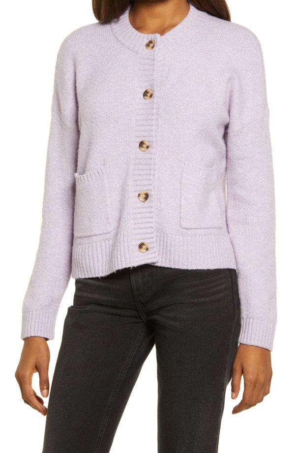 香芋紫羊毛开衫