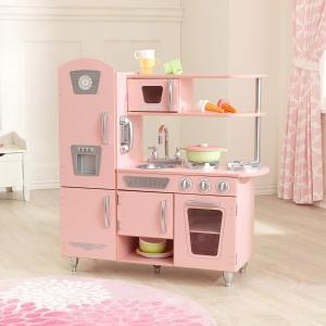 7.6折+包邮 少女心炸裂KidKraft 53179 粉色厨房玩具套装